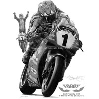 Carl Fogarty Signed Limited Print