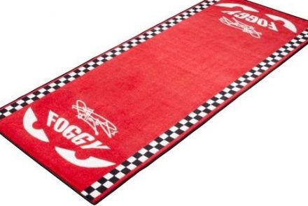 Foggy signature garage mat