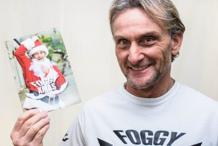 Signed personalised Foggy Xmas card