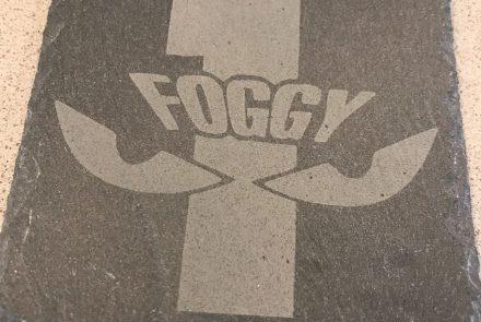 Slate Foggy coasters