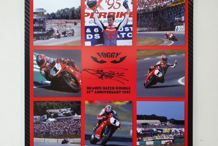 Signed Brands Hatch 1995 metallic print
